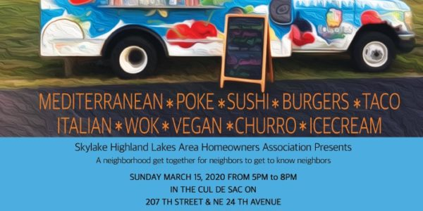 The Great Neighborhood Food Truck Festival 3-15-20