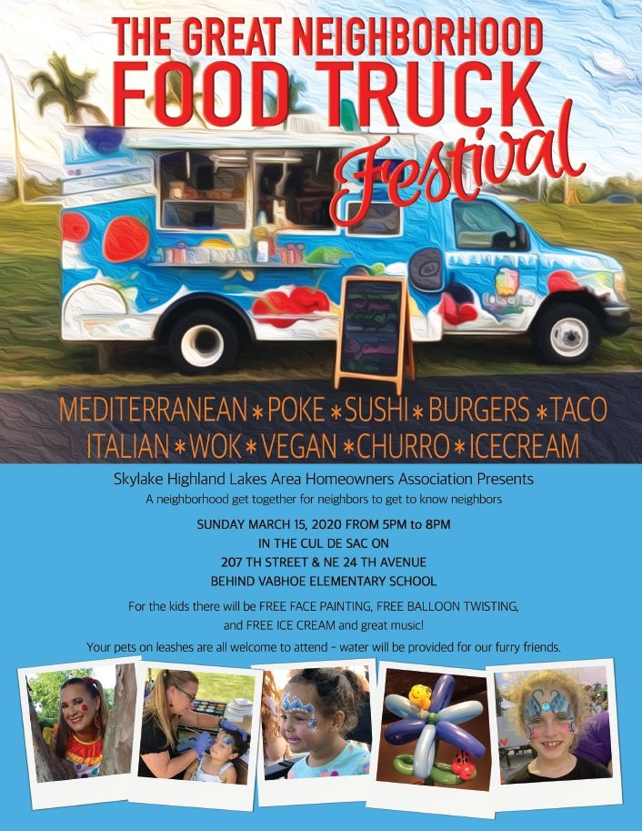 The Great Neighborhood Food Truck Festival 3-15-20